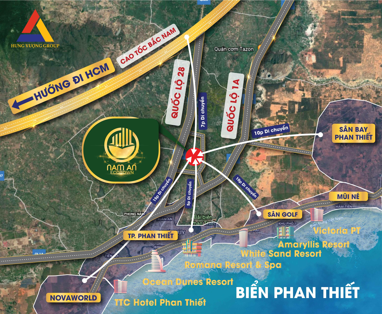 Vị Trí Nam An Ecotown Phan thiết